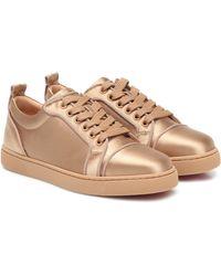 Christian Louboutin Sneakers Louis Junior aus Satin - Mehrfarbig