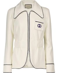 Gucci Giacca in jersey - Bianco
