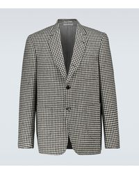 Thom Browne Houndstooth Tweed Blazer - Multicolor