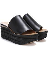 Chloé - Camille Leather Platform Sandals - Lyst
