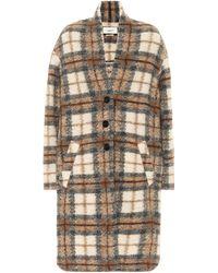 Étoile Isabel Marant Gabriel Checked Wool-blend Coat - Natural