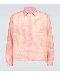 ERL Kariertes Hemd aus Baumwolle - Natur