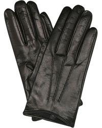 Miu Miu Leather Gloves - Black