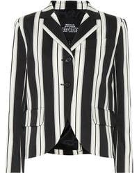 Marc Jacobs Striped Cotton Blazer - Black