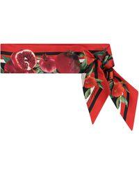 Dolce & Gabbana Exklusiv bei Mytheresa – Tuch aus Seiden-Twill - Rot