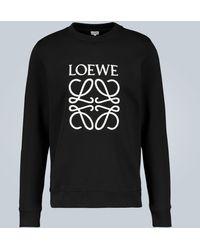 Loewe Sweatshirt mit Monogramm - Schwarz