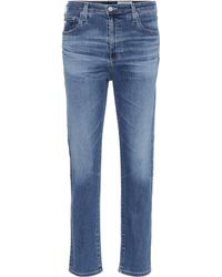 AG Jeans - The Isabelle High-rise Cropped Jeans - Lyst