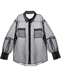 Sir. The Label Camisa Maelie de organza de seda - Negro