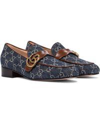 Gucci Mocasines GG Marmont de jeans - Azul