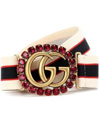 Gucci Verzierter Gürtel Double G - Mehrfarbig