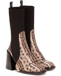 Chloé Bea Embossed Leather Boots - Multicolor
