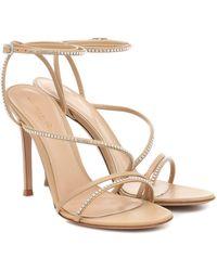 Gianvito Rossi Verzierte Sandalen aus Leder - Natur