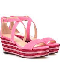 Jimmy Choo - Portia 70 Wedge Sandals - Lyst