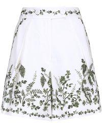 Erdem Shorts Howard a vita alta in lino - Bianco