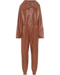 Dodo Bar Or Jumpsuit in pelle - Marrone