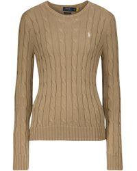 Polo Ralph Lauren Jersey de algodón trenzado - Marrón