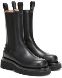 Bottega Veneta Chelsea Boots Aus Leder - Schwarz