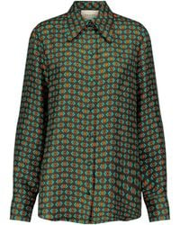Gucci Printed Silk-faille Shirt - Brown