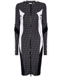 Burberry Vestido corto de punto fino técnico - Negro