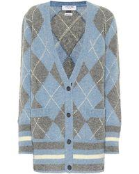 Thom Browne Cardigan aus Wolle - Blau