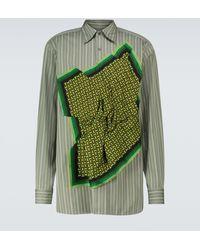 Dries Van Noten Gestreiftes Hemd aus Baumwolle - Grün