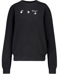 Off-White c/o Virgil Abloh Sweatshirt aus Baumwolle - Schwarz