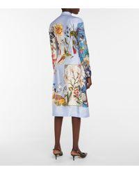 Ferragamo Abito midi a stampa floreale in seta - Multicolore