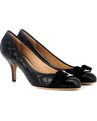 Ferragamo - Carla 70 Quilted Leather Court Shoes - Lyst