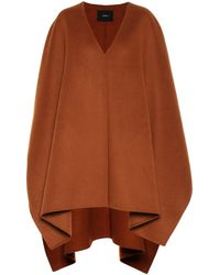 JOSEPH Ciela Wool And Cashmere Poncho - Brown