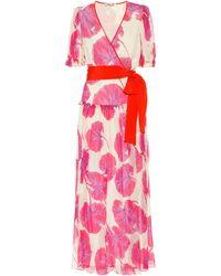 Diane von Furstenberg Vestido Breeze de chifón de seda - Rosa