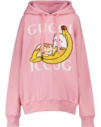 Gucci X Bananya Hoodie aus Baumwolle - Pink