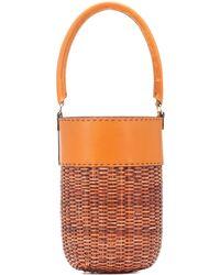 Kayu Lucie Leather-trimmed Bucket Bag - Orange