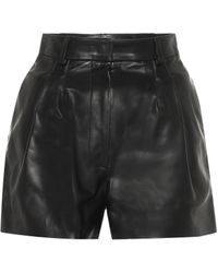Alaïa Leather Shorts - Black