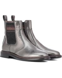Brunello Cucinelli - Leather Chelsea Boots - Lyst
