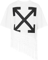Off-White c/o Virgil Abloh Camiseta de algodón estampada - Blanco