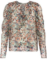 Ulla Johnson Astrid Floral Silk-blend Blouse - Multicolour