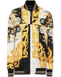 Versace Barocco Acanthus Silk Jacket - Multicolor
