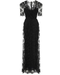 Dolce & Gabbana Robe aus Spitze - Schwarz