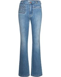 See By Chloé High-rise Flared Jeans - Blue