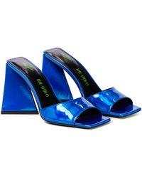 The Attico Devon Leather Sandals - Blue