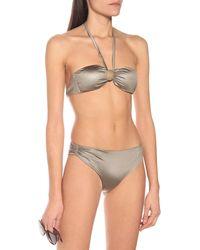 Max Mara Leisure Echi Bikini Bottoms - Metallic