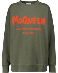 Alexander McQueen Sweatshirt aus Baumwolle - Grün