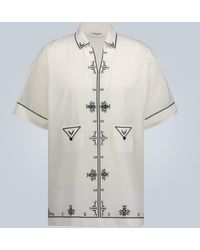 Saint Laurent Filigree Short-sleeve Shirt - White