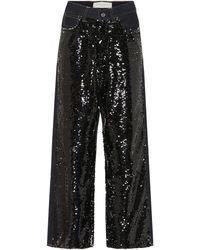 Golden Goose Deluxe Brand Jean ample Breezy à sequins - Noir
