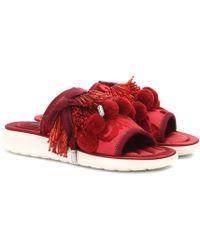 Marc Jacobs Verzierte Sandalen Emerson Pompom - Rot