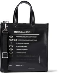 MM6 by Maison Martin Margiela New Explanation Printed Tote - Black