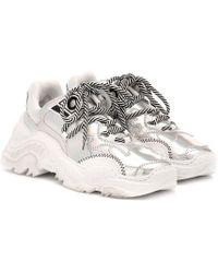 N°21 Sneakers Billy aus Metallic-Leder - Mettallic