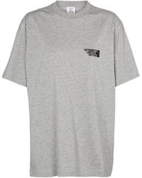 Vetements Bedrucktes T-Shirt aus Baumwolle - Grau