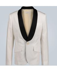 Wales Bonner Stretch-cotton Tuxedo Jacket - White