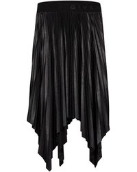 Givenchy Pleated Midi Skirt - Black